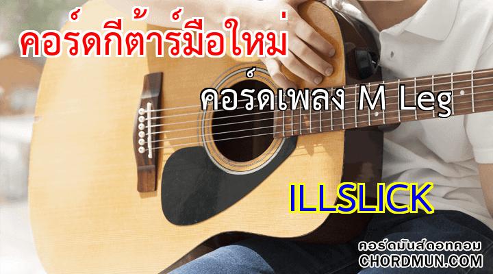 คอร์ดเพลง ง่ายๆ เพลง คอร์ดเพลง M Leg