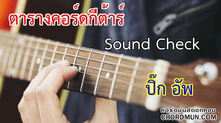 คอร์ดเพลงง่ายๆ เพลง Sound Check