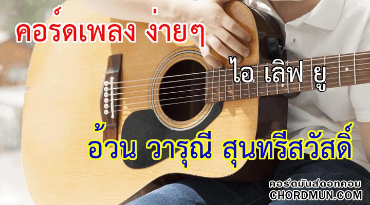 คอร์ดกีต้าร์มือใหม่ เพลง ไอ เลิฟ ยู
