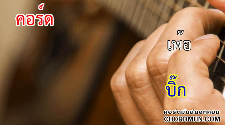 คอร์ดเพลง ง่ายๆ เพลง เพ้อ