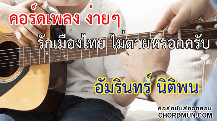 คอร์ดกีตาร์ ง่าย เพลง รักเมืองไทย ไม่ตายหรอกครับ