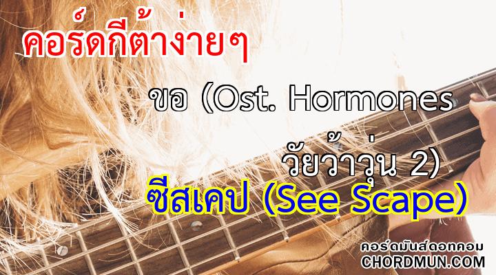 คอร์ดกีต้าร์ เพลง ขอ (Ost. Hormones วัยว้าวุ่น 2)