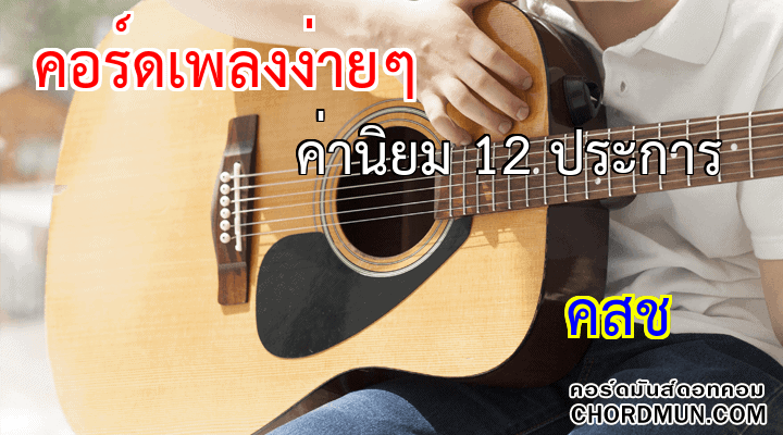 คอร์ดเพลง ง่ายๆ เพลง ค่านิยม 12 ประการ