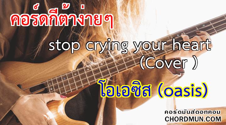 คอร์ดกีต้าง่ายๆ เพลง stop crying your heart (Cover )