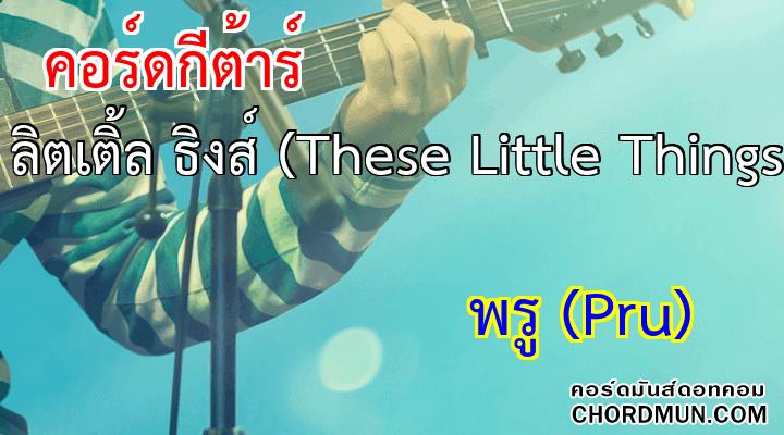 คอร์ดกีตาร์ ง่าย เพลง ธีซ ลิตเติ้ล ธิงส์ (These Little Things)