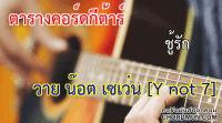คอร์ดเพลง คอร์ดกีต้า ง่ายๆ เพลง ชู้รัก - วาย น๊อต เซเว่น [Y not 7]