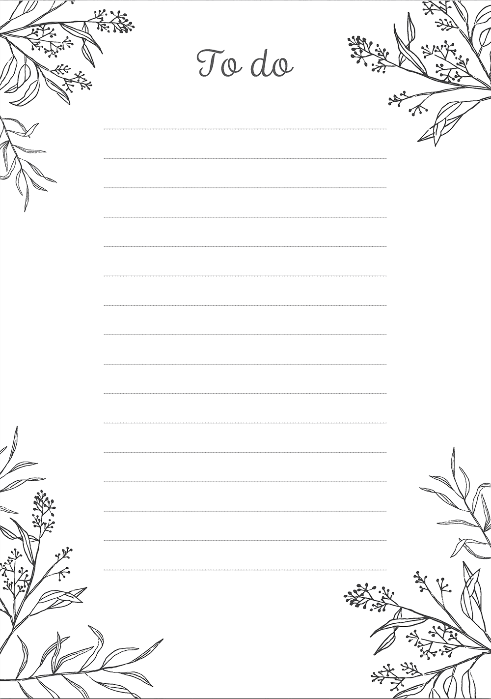 Chart Printable Monthly Blank