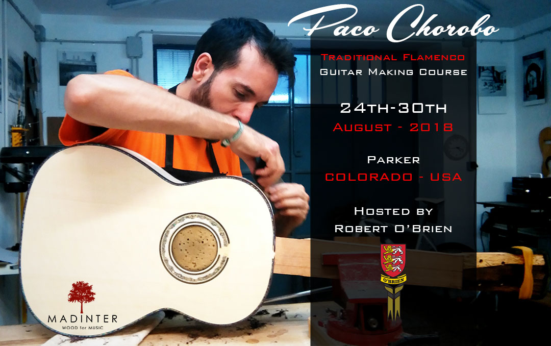Cartel Curso Paco Chorobo Obrien 2018