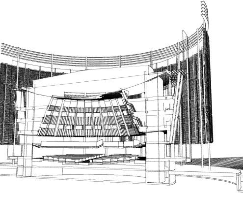 Pan African Parliament. Choromanski Architects