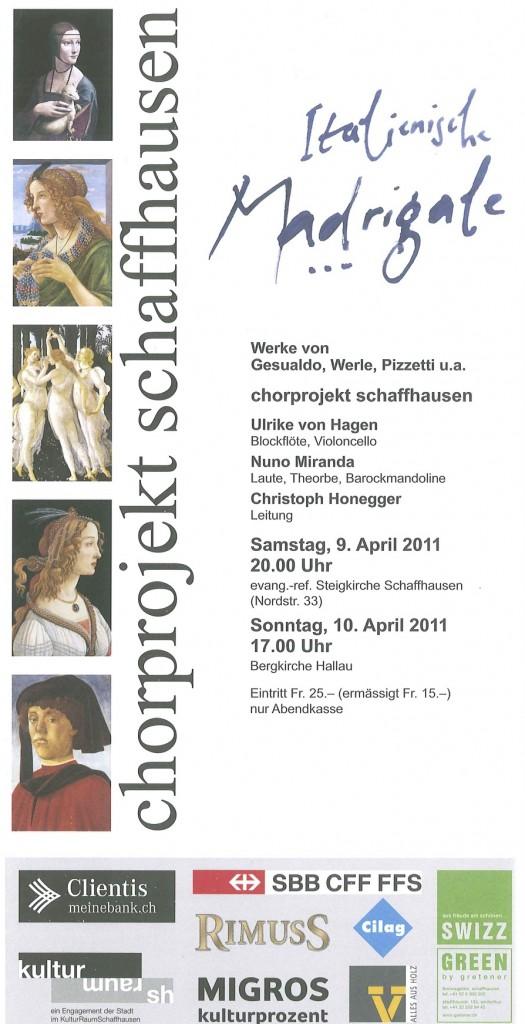 9.11.2011: Evangelisch-Reformierte Steigkirche. Schaffhausen 1.11.2011: Bergkirche Hallau