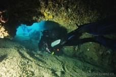 Plazička na Malém Fraškeru, potápění v Chorvatsku