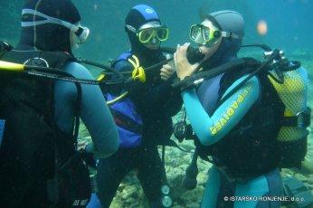 Nácvik dýchání s buddym - kurzy potápění