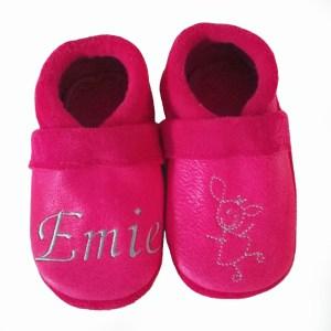 Cuir tannage végétal Ecopell chaussons en cuir souple bébé enfant adulte Chouballon fabrication française