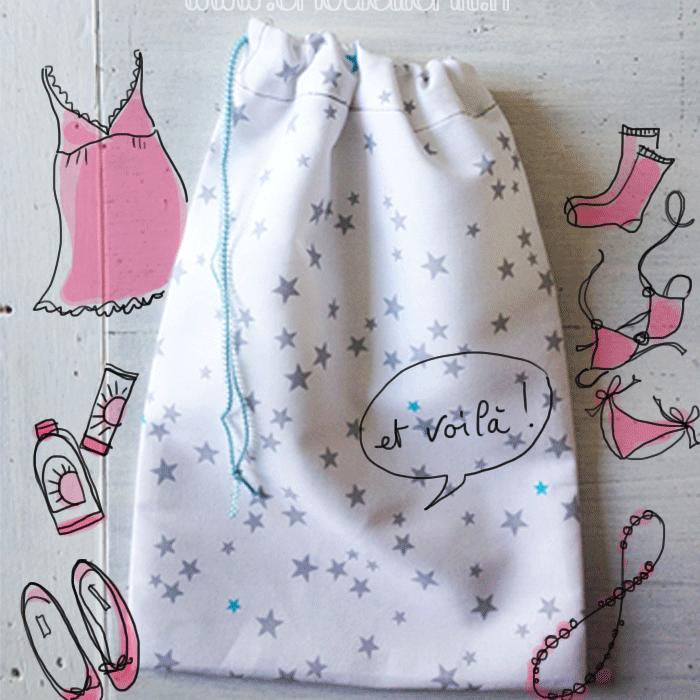 Tuto Cadeau Pochon Couture Chouette Kit