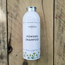 Natural powder shampoo chamomile and lemon for blonde and light hair from Warrior Botanical