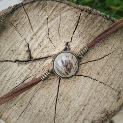 Wild Pampa grass bracelet handmade by Flower Beauty
