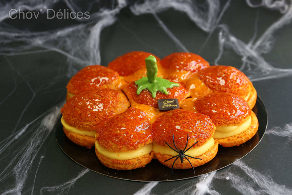 Pumpkin gâteau pour halloween