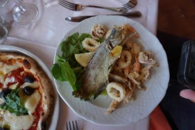 Calamari with fish IN iTALY.