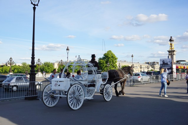 Horse drawn carriage in Paris, France.