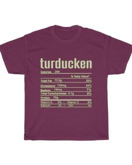 Turducken – Nutritional Facts Unisex Heavy Cotton Tee