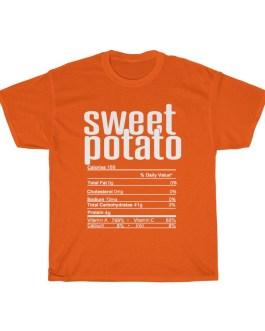 Sweet Potato – Nutritional Facts Unisex Heavy Cotton Tee