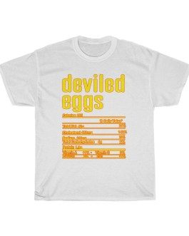 Deviled Eggs – Nutritional Facts Unisex Heavy Cotton Tee