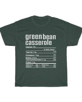 Green Bean Casserole – Nutritional Facts Unisex Heavy Cotton Tee