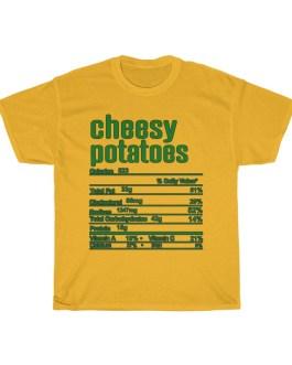 Cheesy Potatoes  – Nutritional Facts Unisex Heavy Cotton Tee