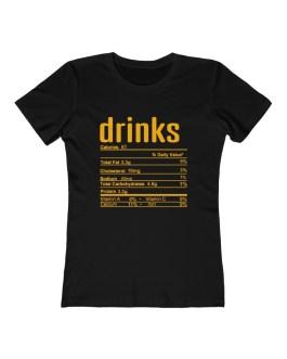 Drinks Nutritional Facts – Women's The Boyfriend Tee