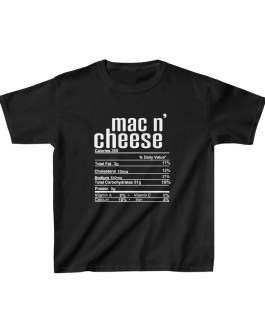 Mac N' Cheese Nutritional Facts Kids Heavy Cotton™ Tee