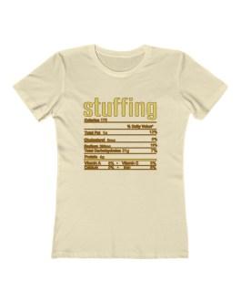 Stuffing Nutritional Facts – Women's The Boyfriend Tee