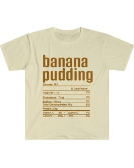 Banana Pudding – Nutritional Facts Short Sleeve Tee