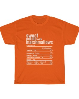 Sweet Potato with Marshmallows – Nutritional Facts Unisex Heavy Cotton Tee