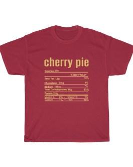 Cherry Pie – Nutritional Facts Unisex Heavy Cotton Tee