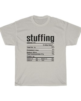 Stuffing – Nutritional Facts Short Sleeve Tee – black print
