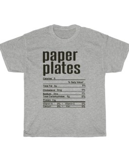 Paper Plates – Nutritional Facts Unisex Heavy Cotton Tee