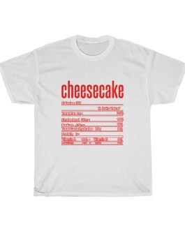 Cheesecake – Nutritional Facts Unisex Heavy Cotton Tee