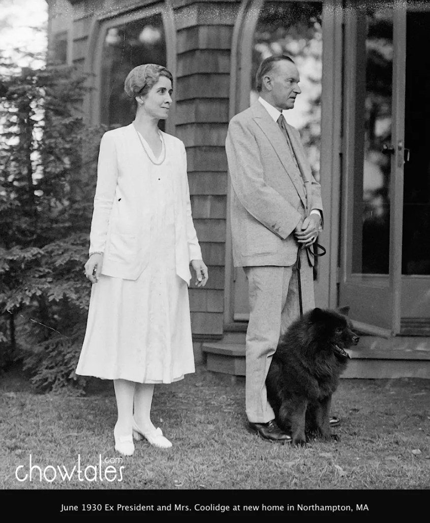 June 1930 Ex Pres. and Mrs. Coolidge at new home in Northampton, MA