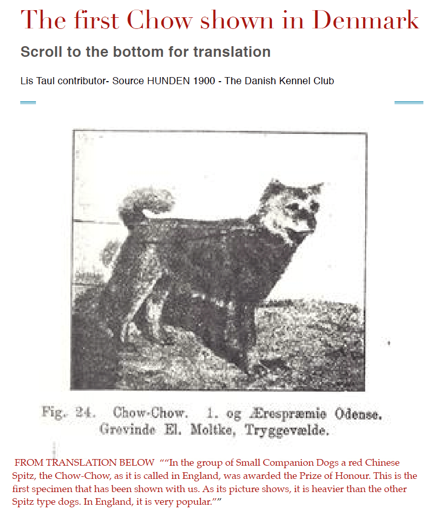 FIRST DANISH CHOW SHOWN 1