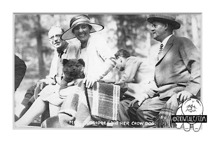 GRACE COOLIDGE AND POSSIBLY THE RED DOG 'TINY TIM' AS A PUPPY