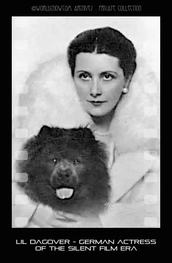 Lil Dagover German Actress with chow - Version 3