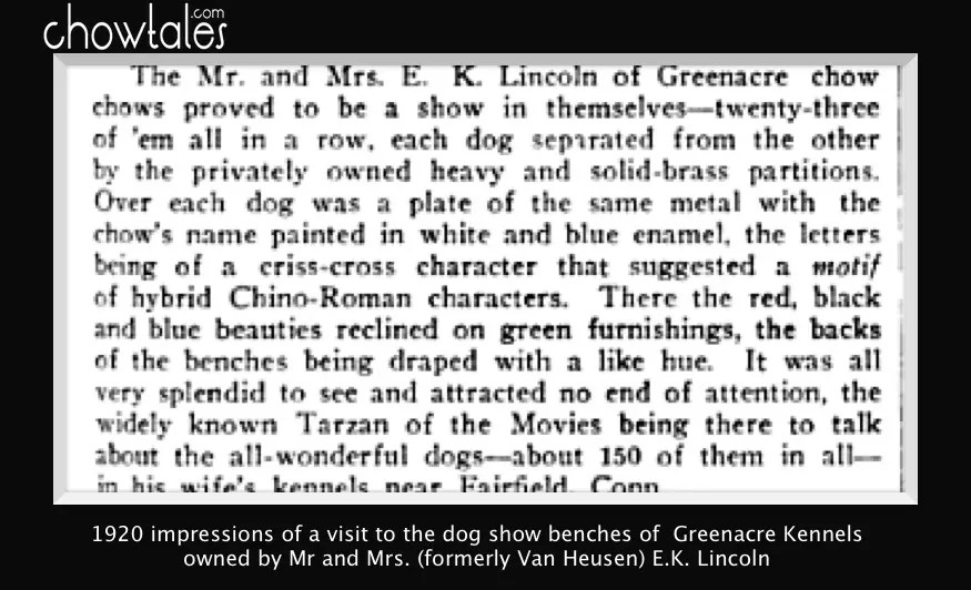 1920 Dogdom Monthly E.K. Lincoln Greenacre Kennel A visit to the kennels