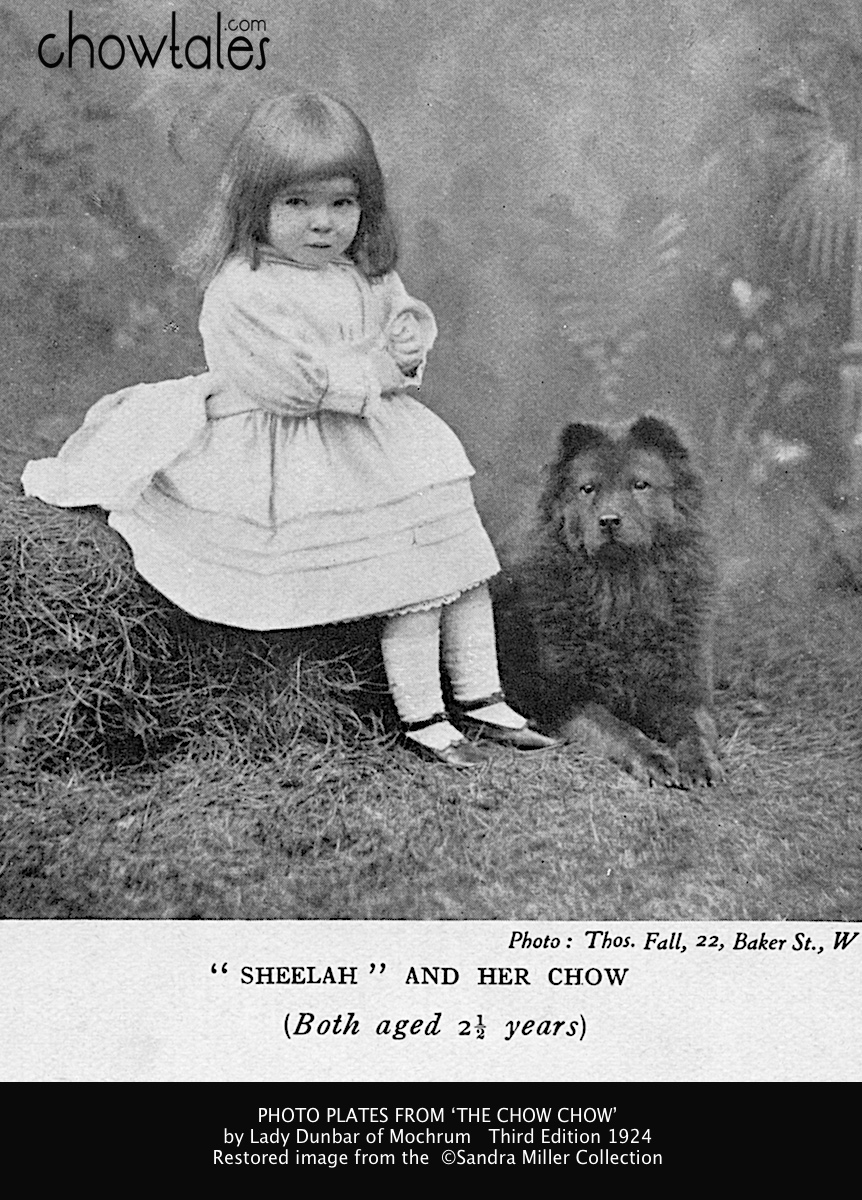 LADY DUNBAR SHEELAH AND HER CHOW - Version 2