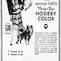 1938 Chow color hosiery advertisement