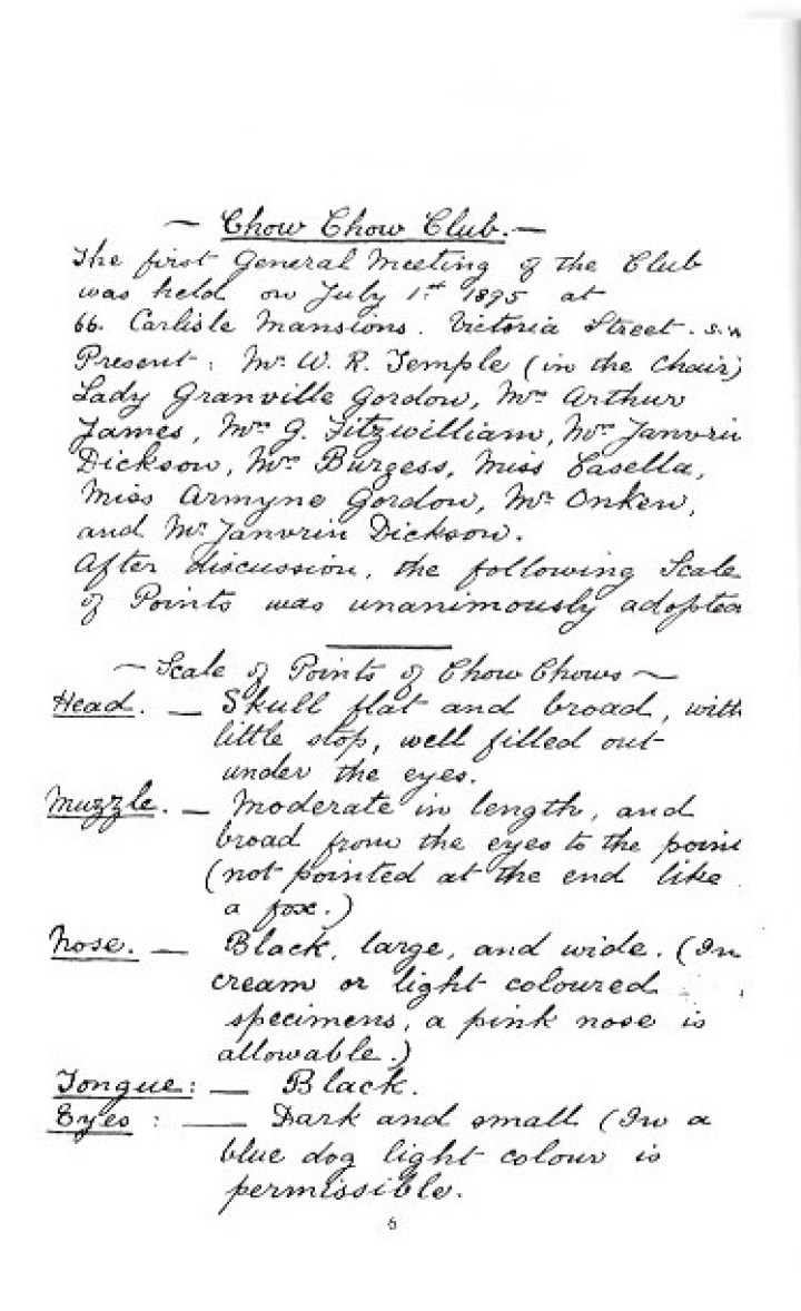 handwritten chow standard page 1 - Version 2