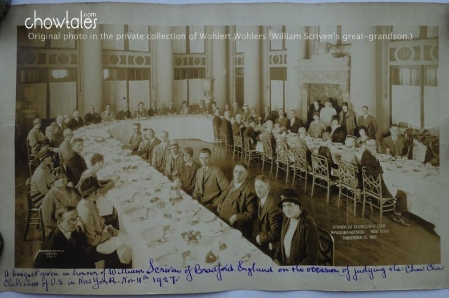 William scriven 1927 Chow club banquet. Property of Wohlert Wohlers