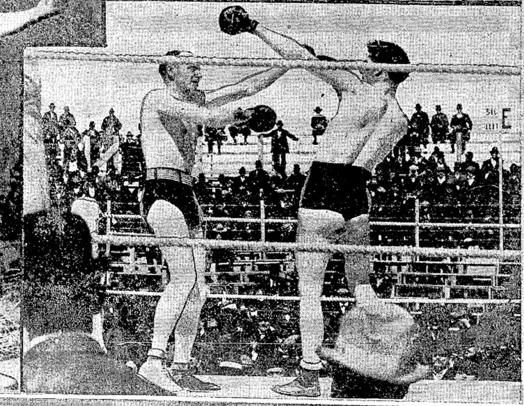 1922 Gentleman Jim Corbett with chow Foo Heavyweight Champion