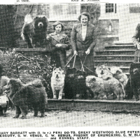 1920s-1950s U.K. Breeders with their chows from magazine clippings