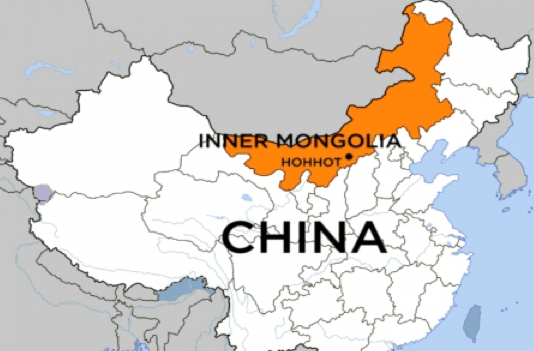 Inner Mongolia in relationship to China