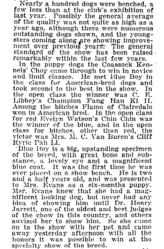 B-1922 Blue Boy Wins National article